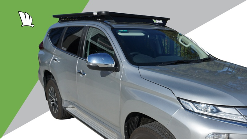 Mitsubishi Pajero Sport 20MY with Wedgetail roof rack installed.