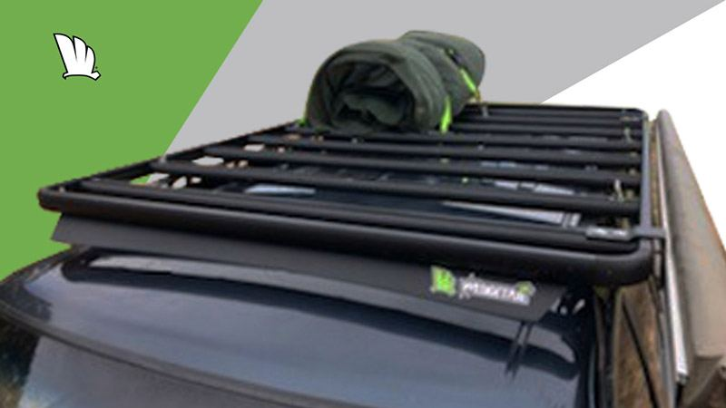 Nissan Patrol GU with Wedgetail roof rack installed.