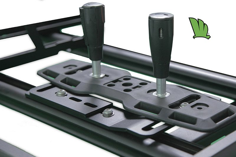 Wedgetail roof rack with our easy fit bolt on brackets for top mounting of the Treds or Maxtrax recovery tracks.