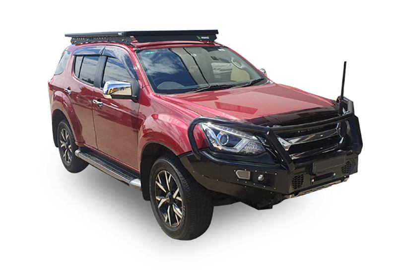 Isuzu MU-X with a Wedgetail rack installed – Hero image