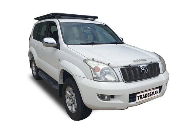 Toyota Prado 120 Series with a Wedgetail rack installed – hero image.